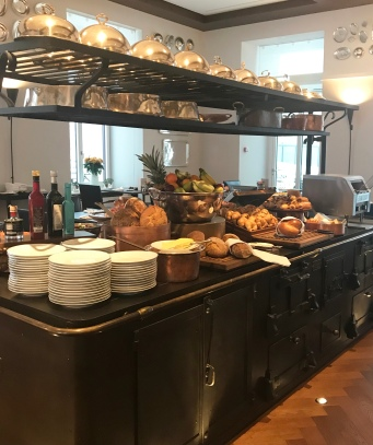 Breakfast spread at the RitzCoffier restaurant