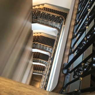 Fully restored staircase at The Palace Hotel