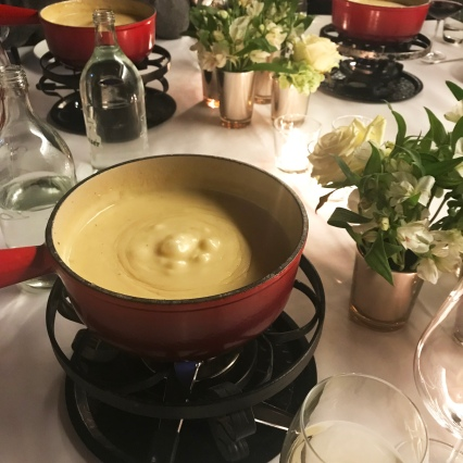 Fondue - a traditional Swiss winter dish